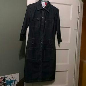 Express Denim Shirt Dress ***POCKETS***
